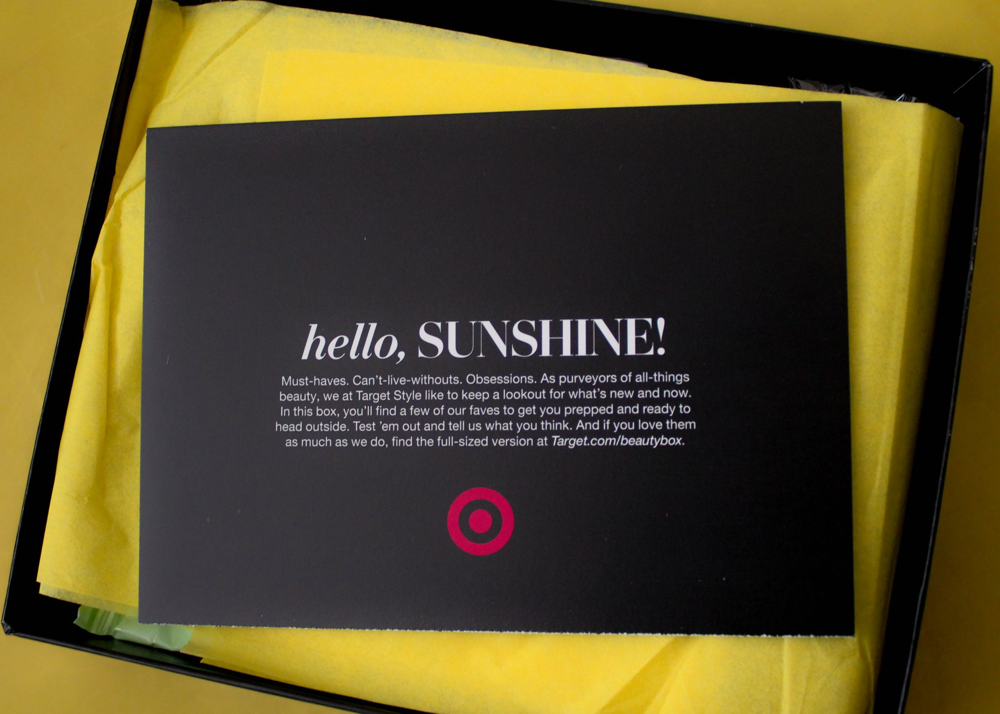 Unboxing April Target Beauty Box graphic