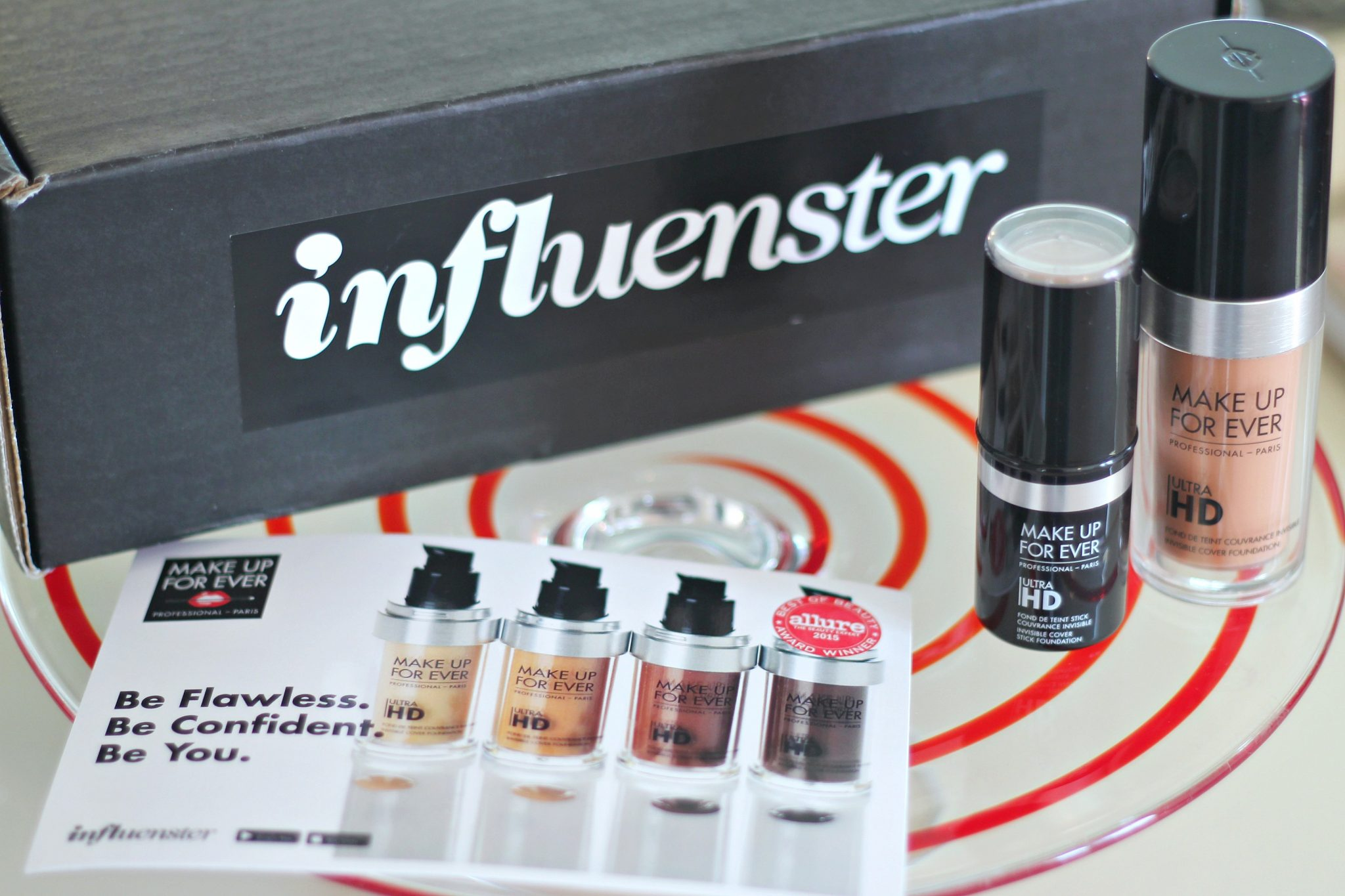 Swooning over my Makeup For Ever HD Ultra Foundation from Influenster! graphic