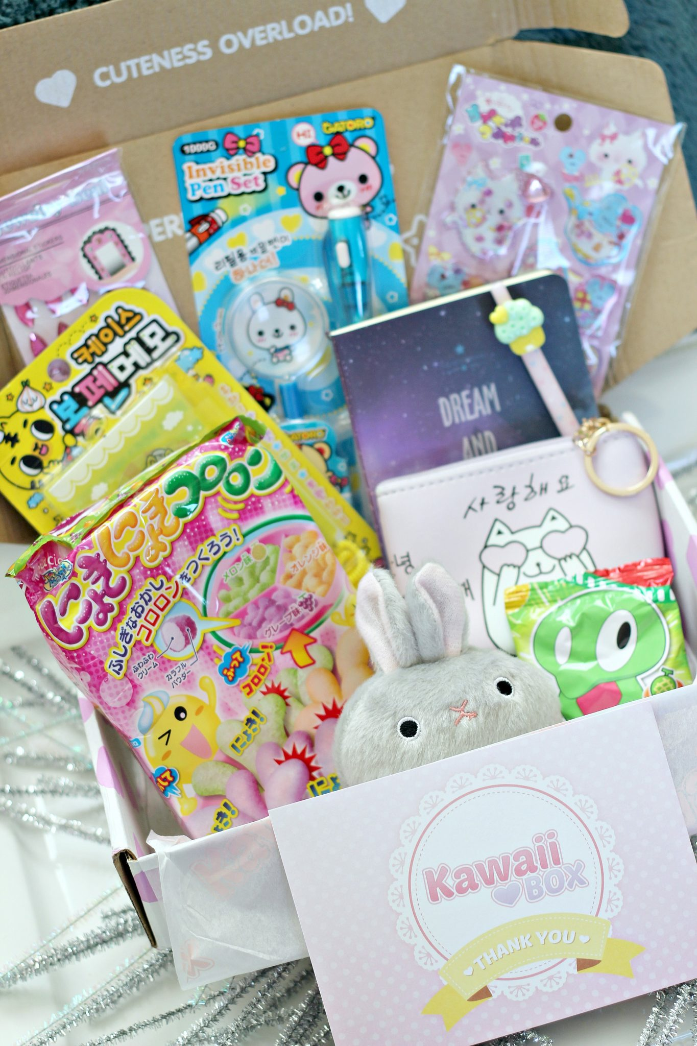 Review & Giveaway of the Cutest  Subscription Box Ever: Kawaii Box! graphic