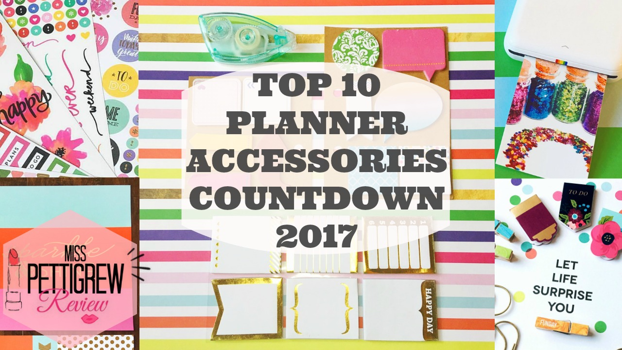 Top 10 Planner Supplies for Happy Planner Organization Video Review! graphic