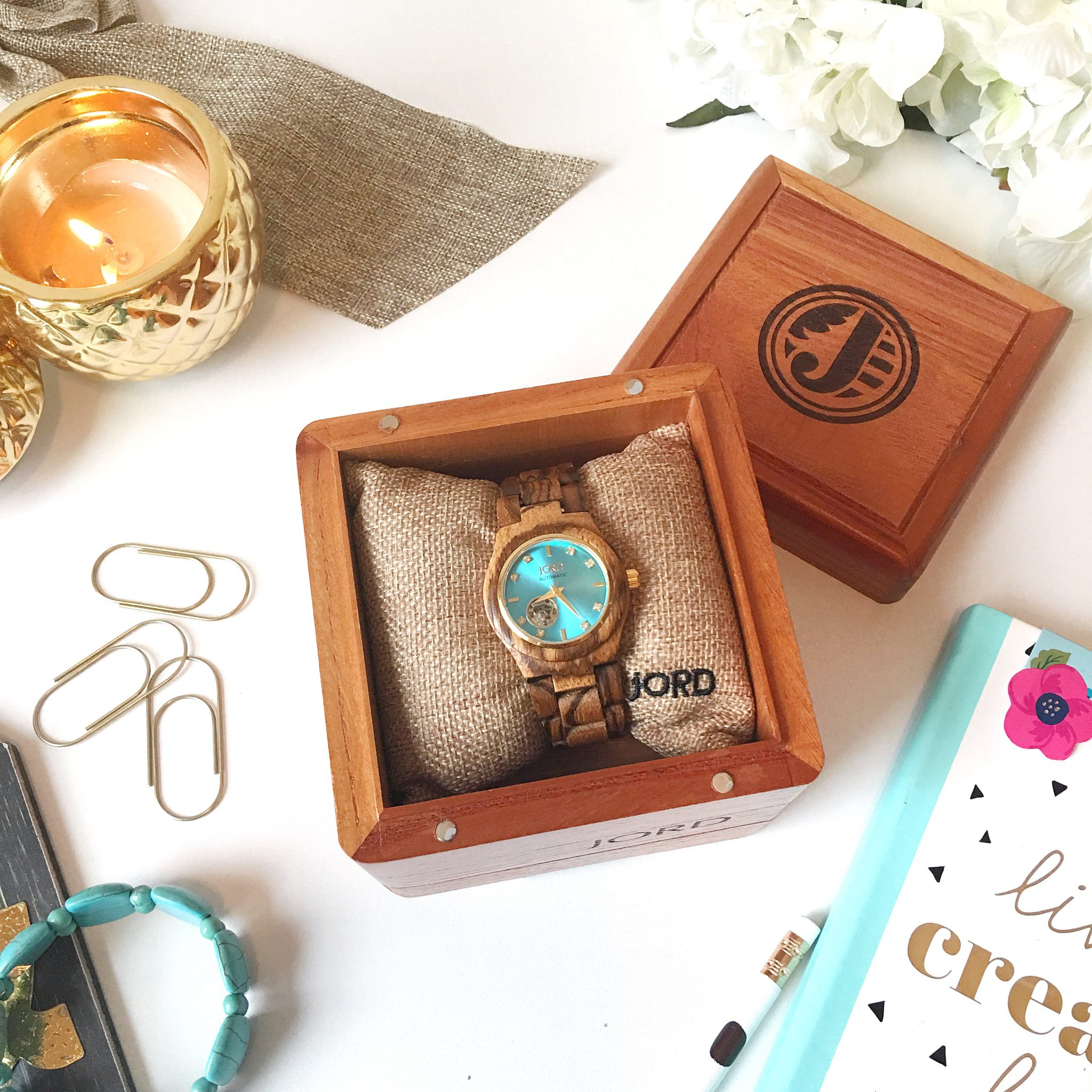 Spring Ready with my Cora Series Jord Wood Watch || Unboxing & Huge Giveaway! graphic