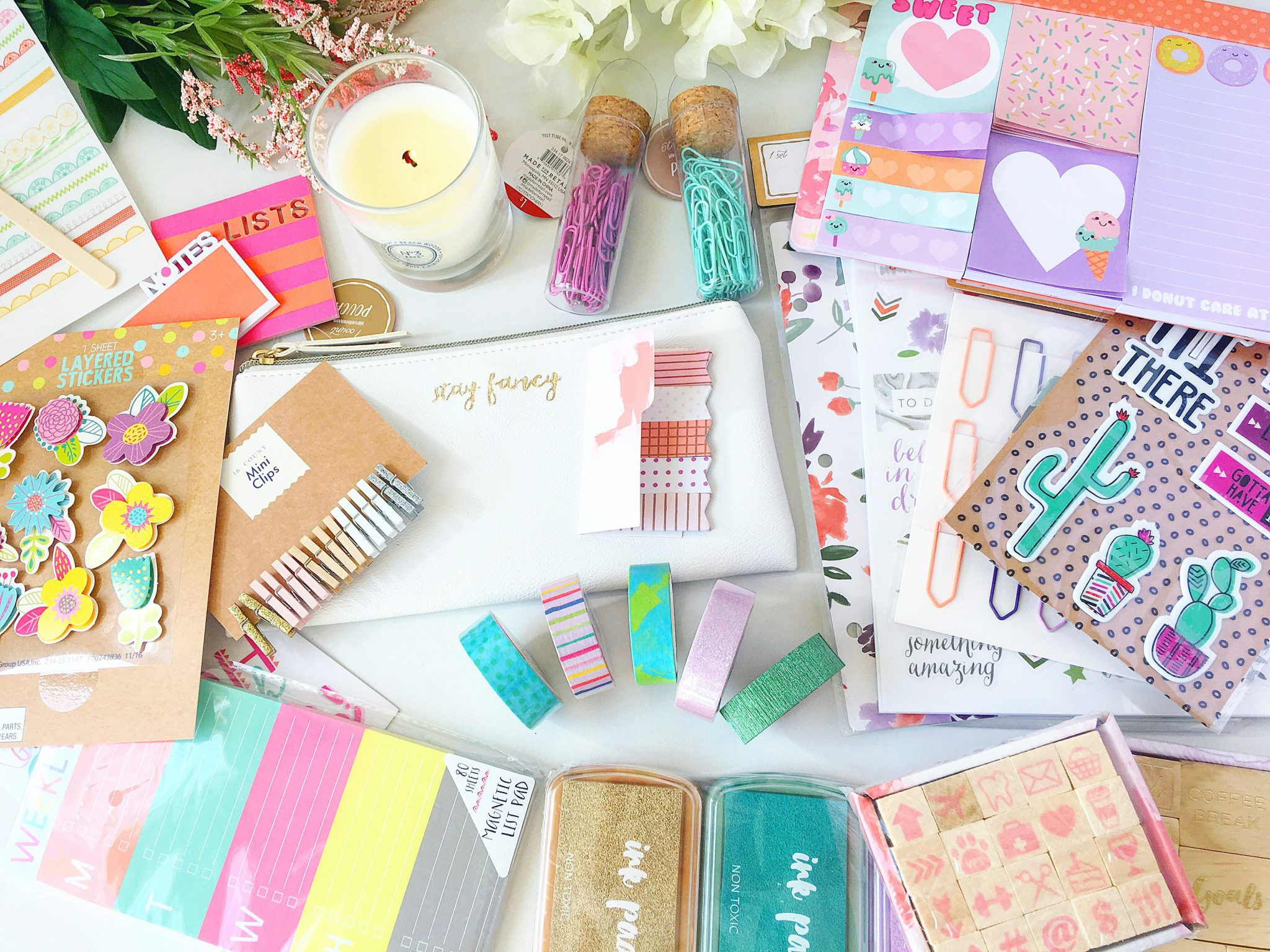 The Cutest Spring Planner Haul: Target Dollar Spot March 2017 graphic